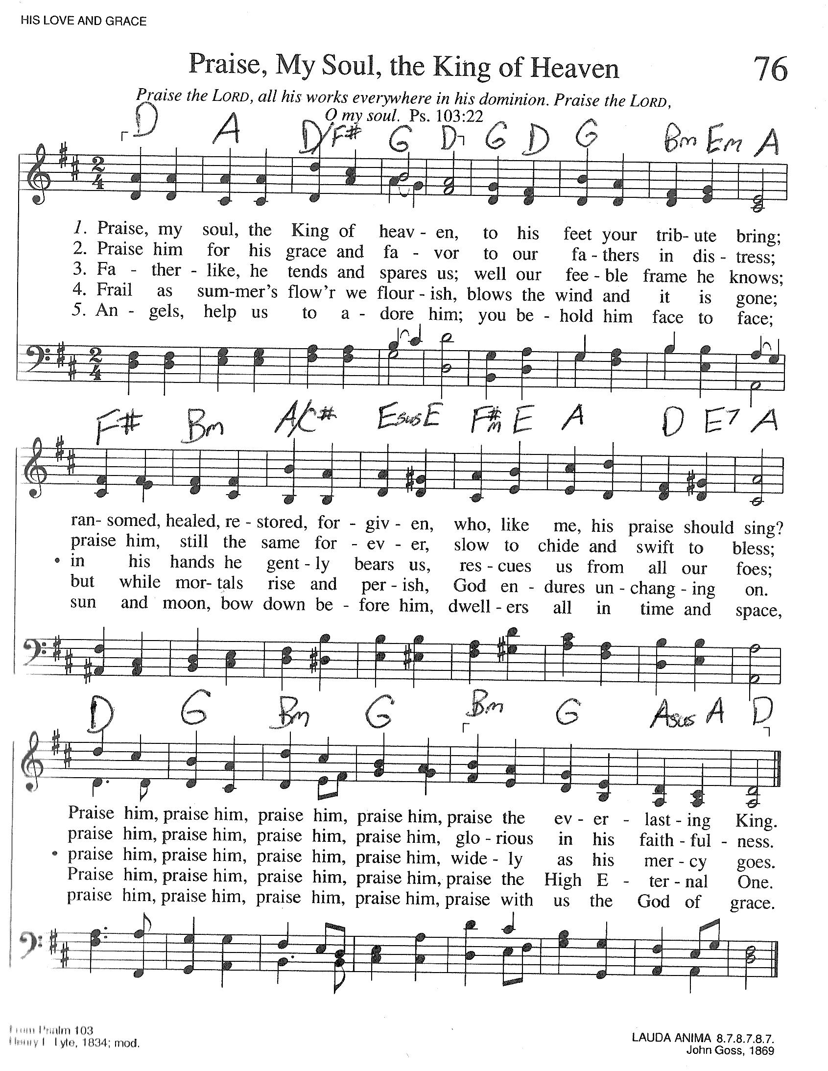 Index of publicdocstrinityhymnaltrinity hymnal guitar chords 076 praise my sou hexwebz Image collections