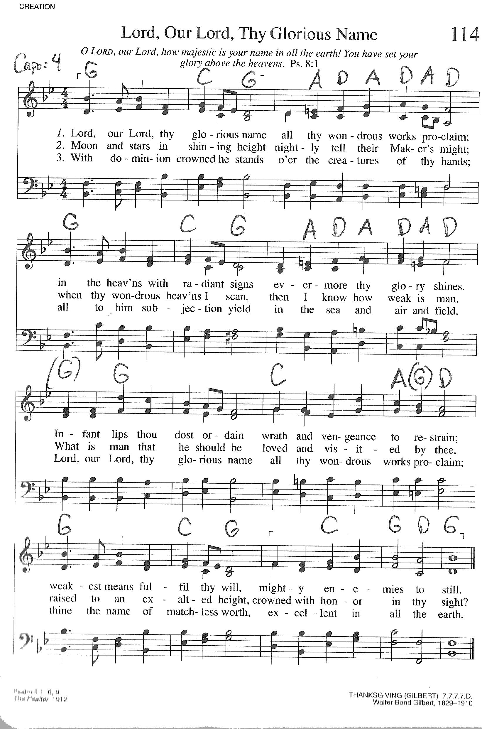 Index of publicdocstrinityhymnaltrinity hymnal guitar chords 114 lord our lord hexwebz Images
