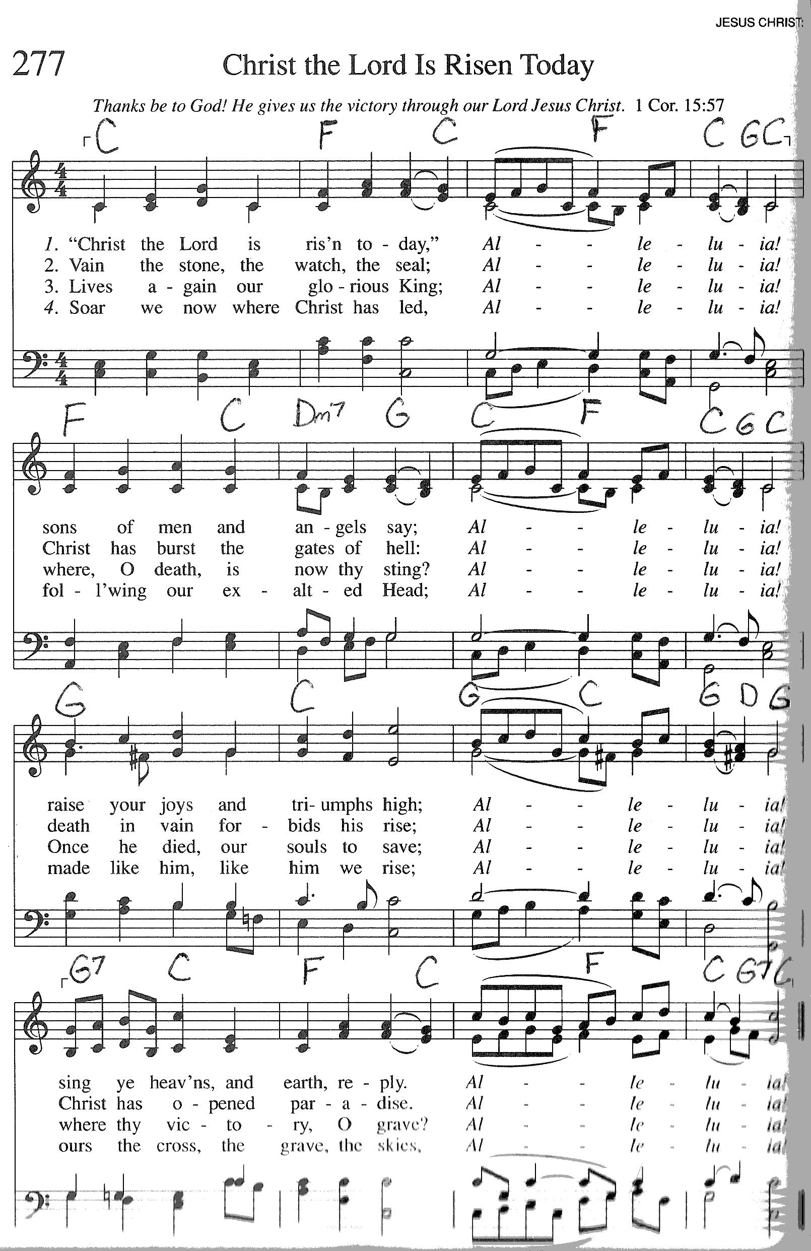 Index of publicdocstrinityhymnaltrinity hymnal guitar chords 277 christ the lor hexwebz Gallery