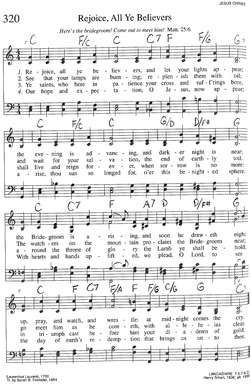 Index of publicdocstrinityhymnaltrinity hymnal guitar chords 320 rejoice all y hexwebz Images